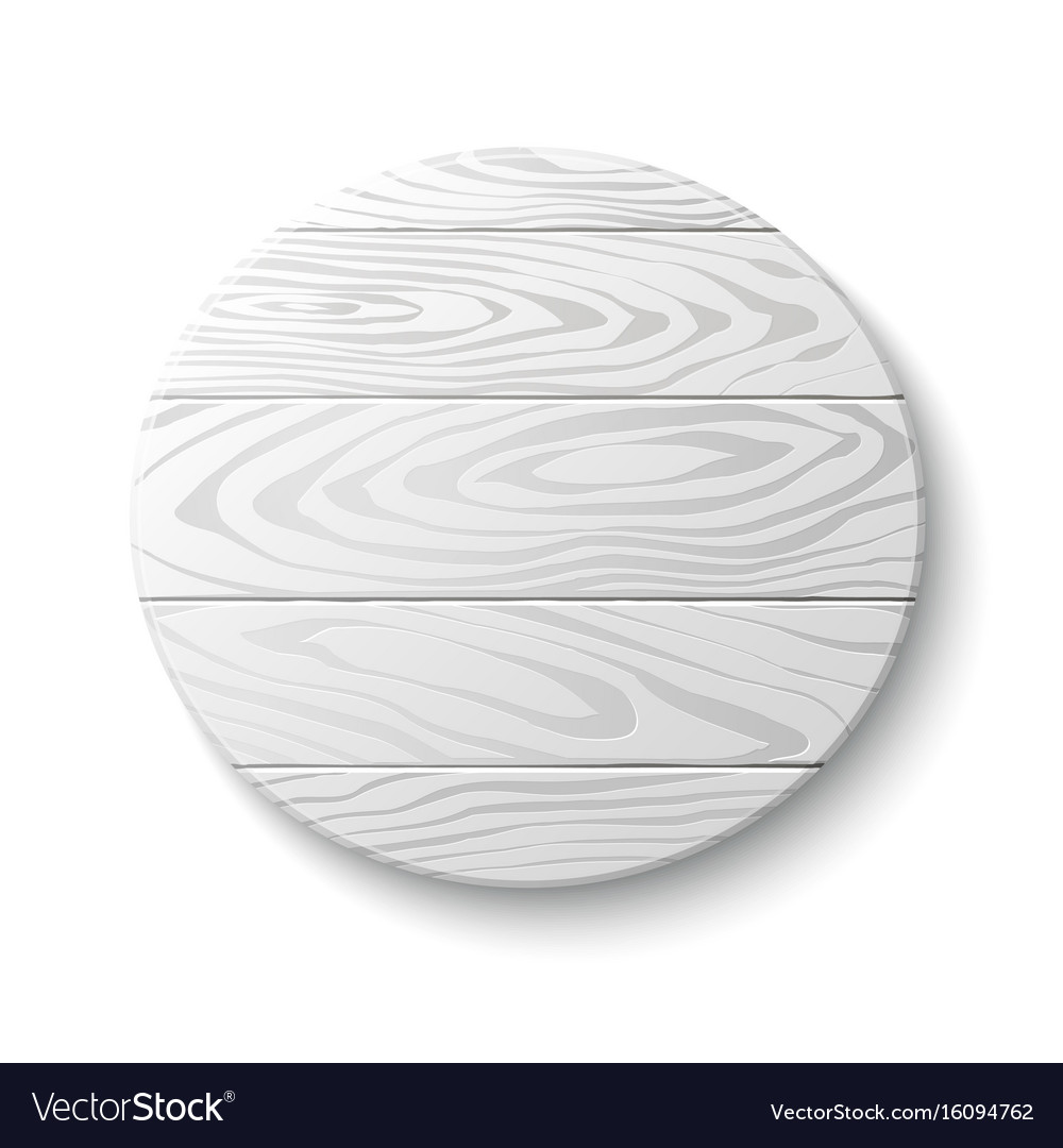 Wooden circle emblem vector image