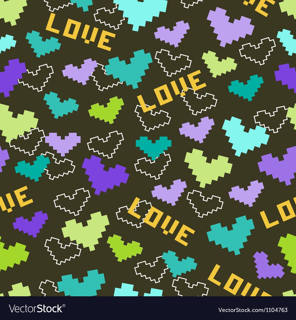 Pattern heart vector image