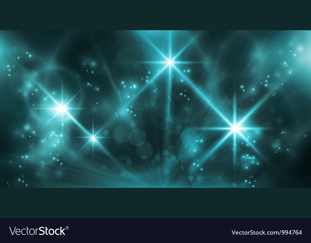 Abstract blue lights Vector Image