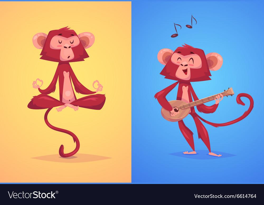 Comical monkey series vector image