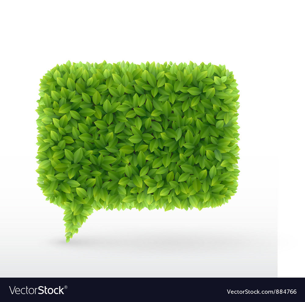 Foliage bubble vector image