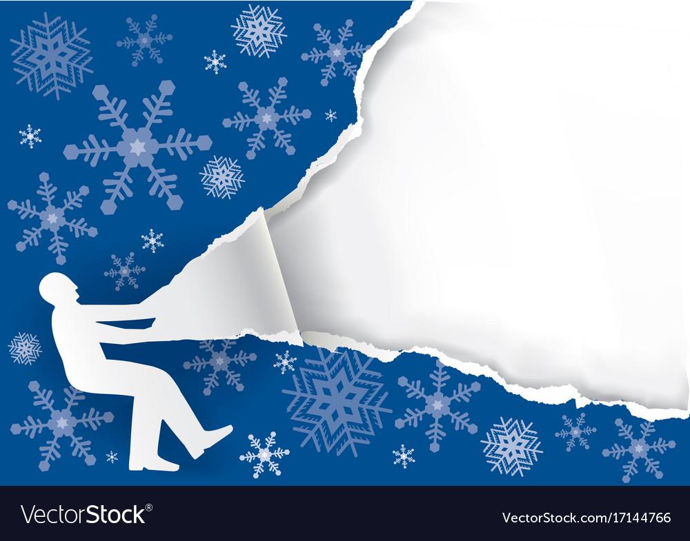 Big christmas gif vector image