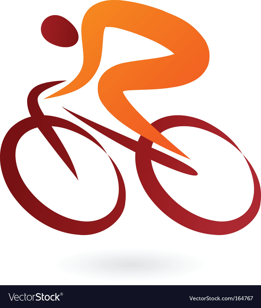 Sport silhouette series cyclist vector image