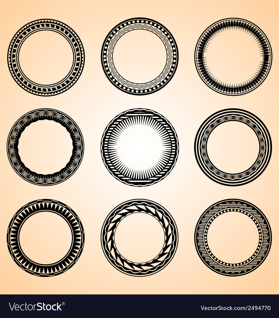 Artistic Circular Set vector image