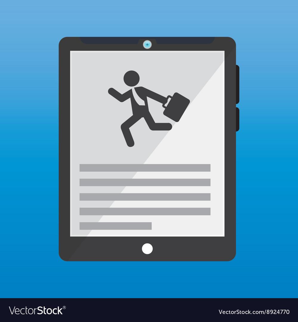 Businessman running design vector image