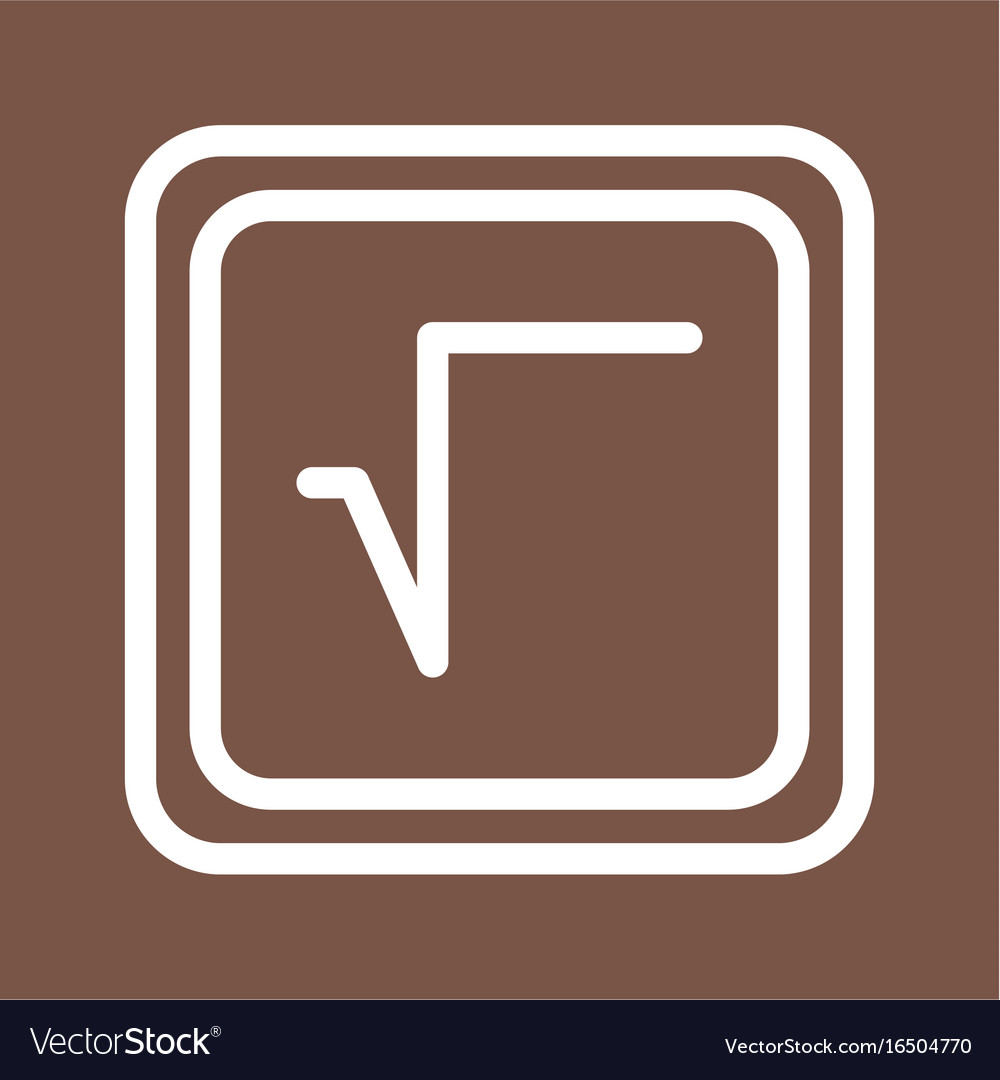 Square root symbol royalty free vector image vectorstock square root symbol vector image buycottarizona Images