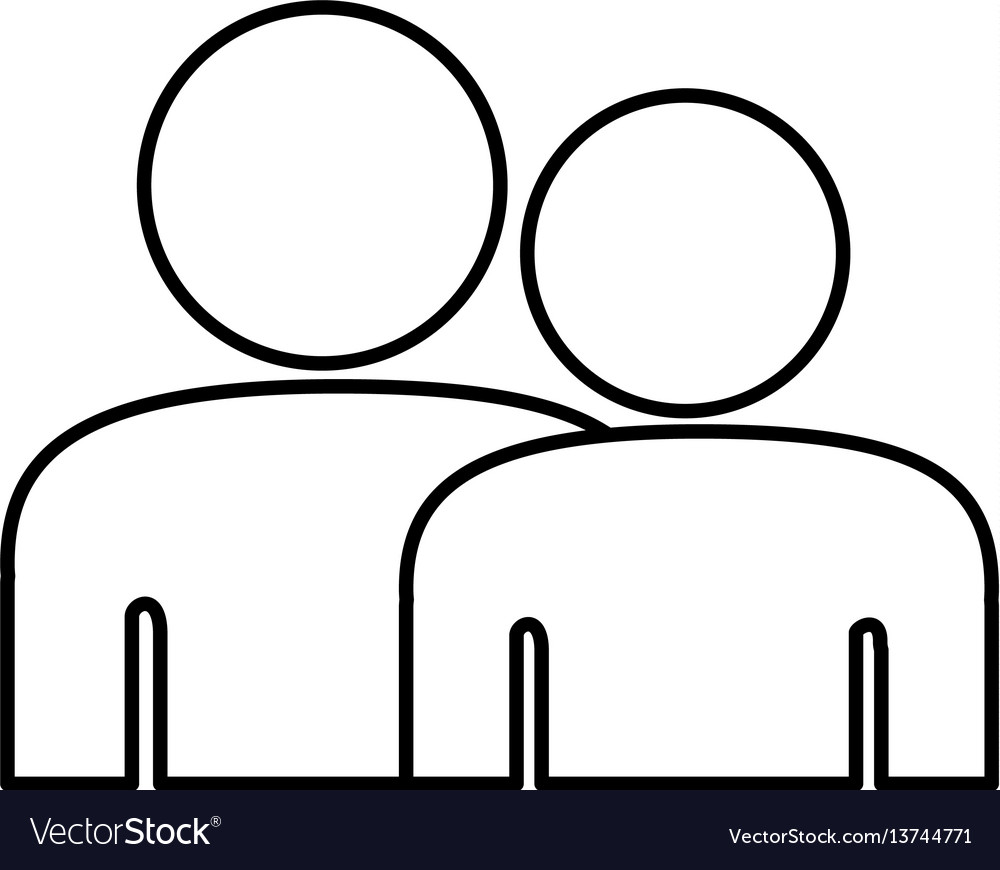 People together contact icon vector image
