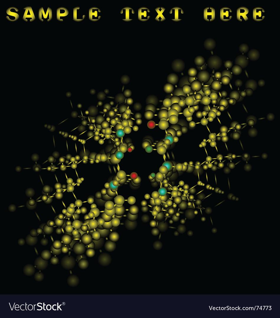 Molecule binding vector image