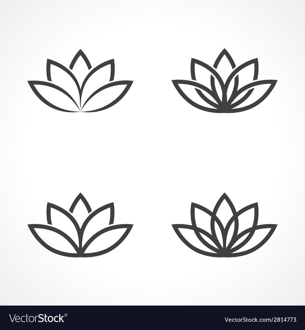 Lotus symbol vector image