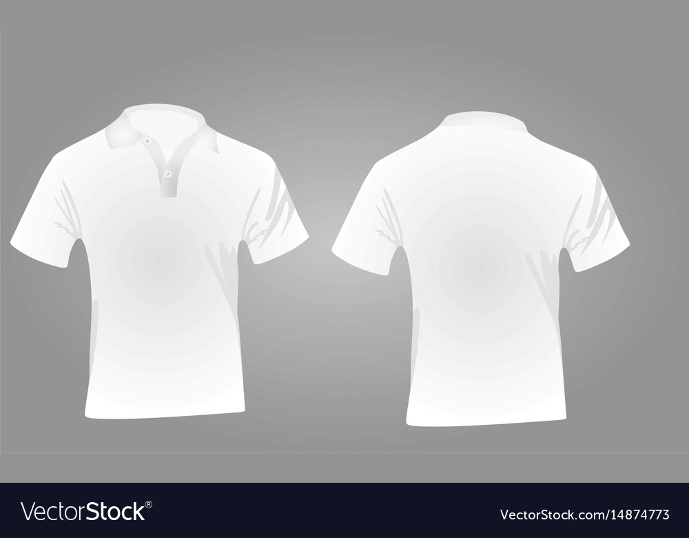 Polo shirt white vector image