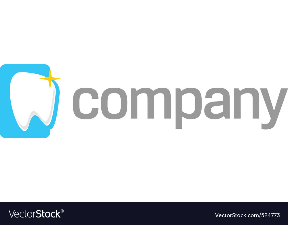 White tooth logo vector image