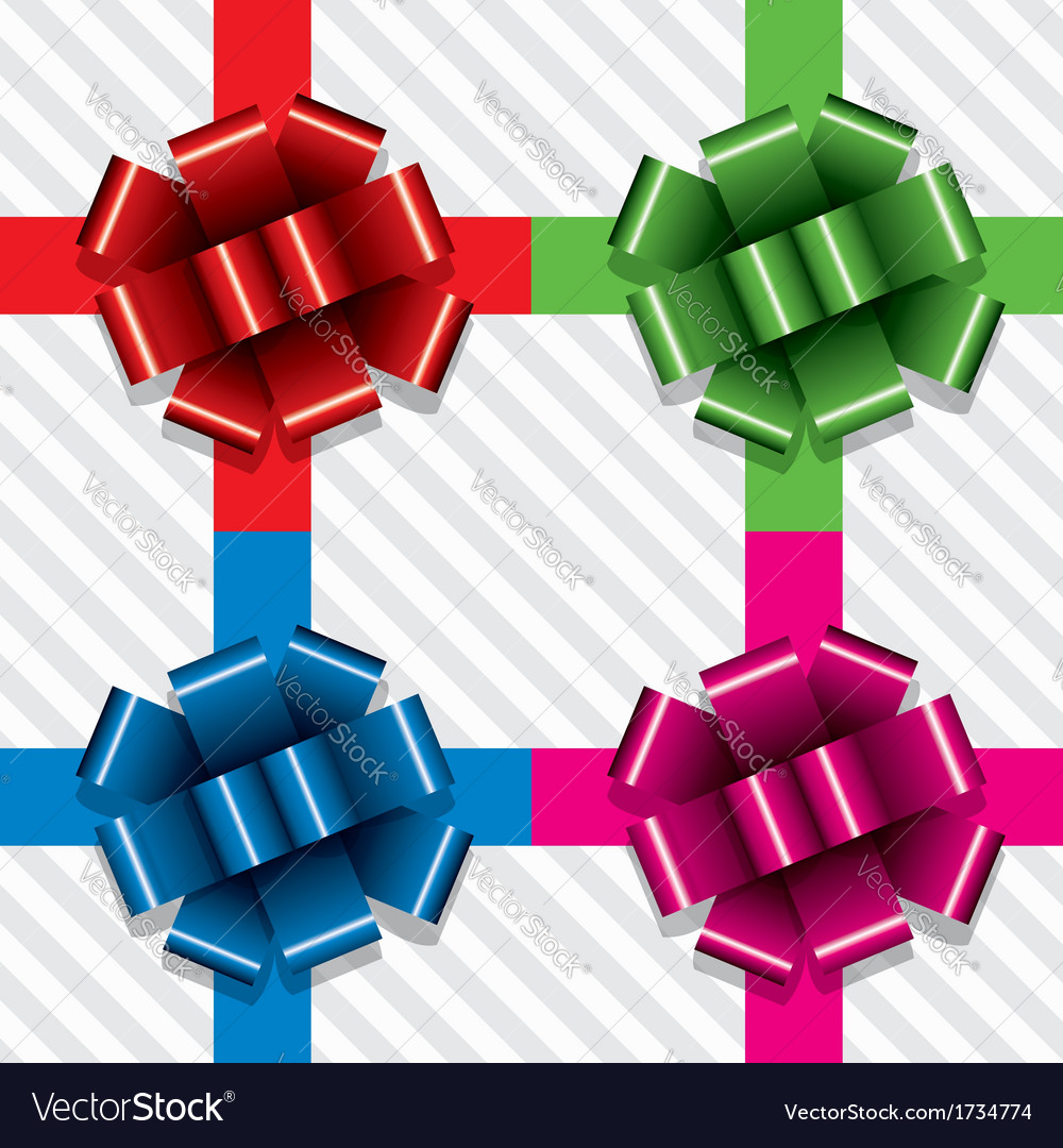 Gift ribbons with bows royalty free vector image gift ribbons with bows vector image negle Gallery