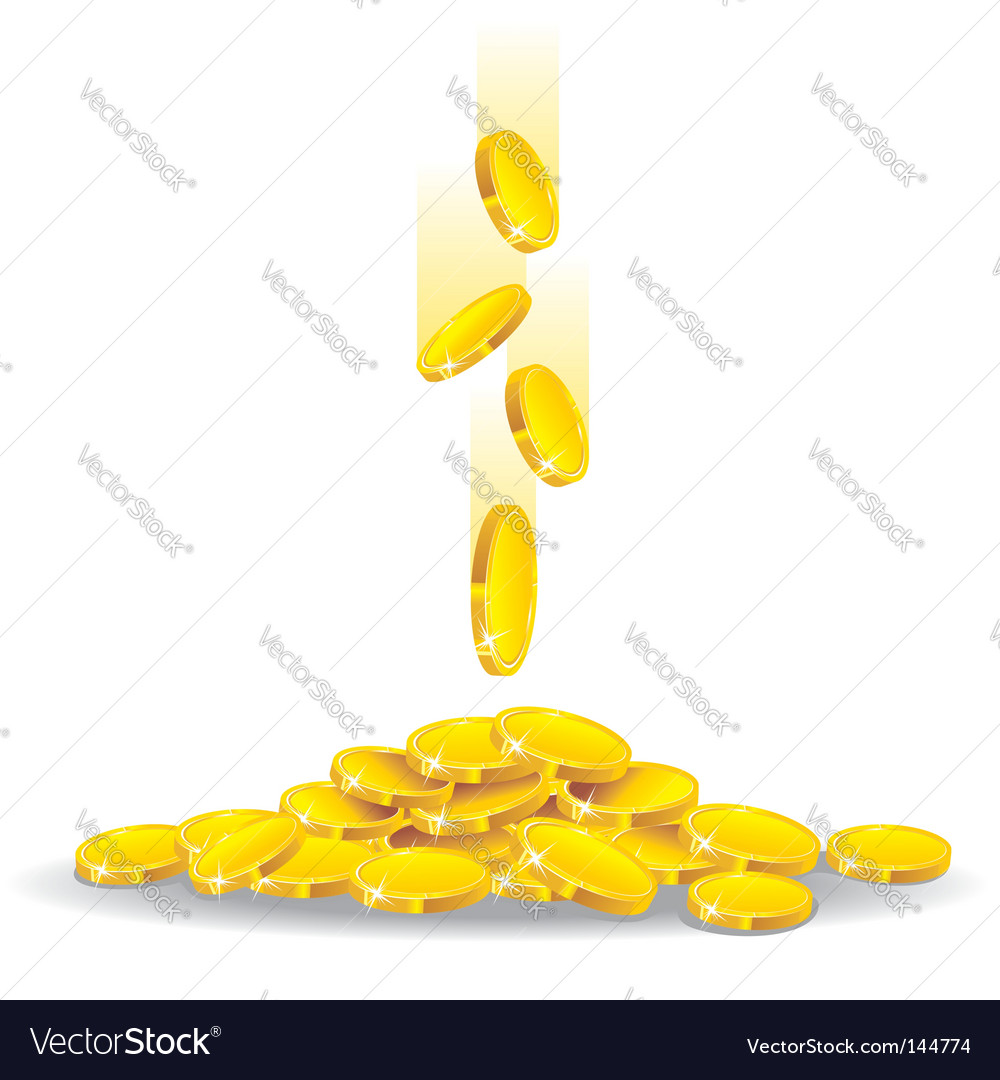 Golden rain vector image