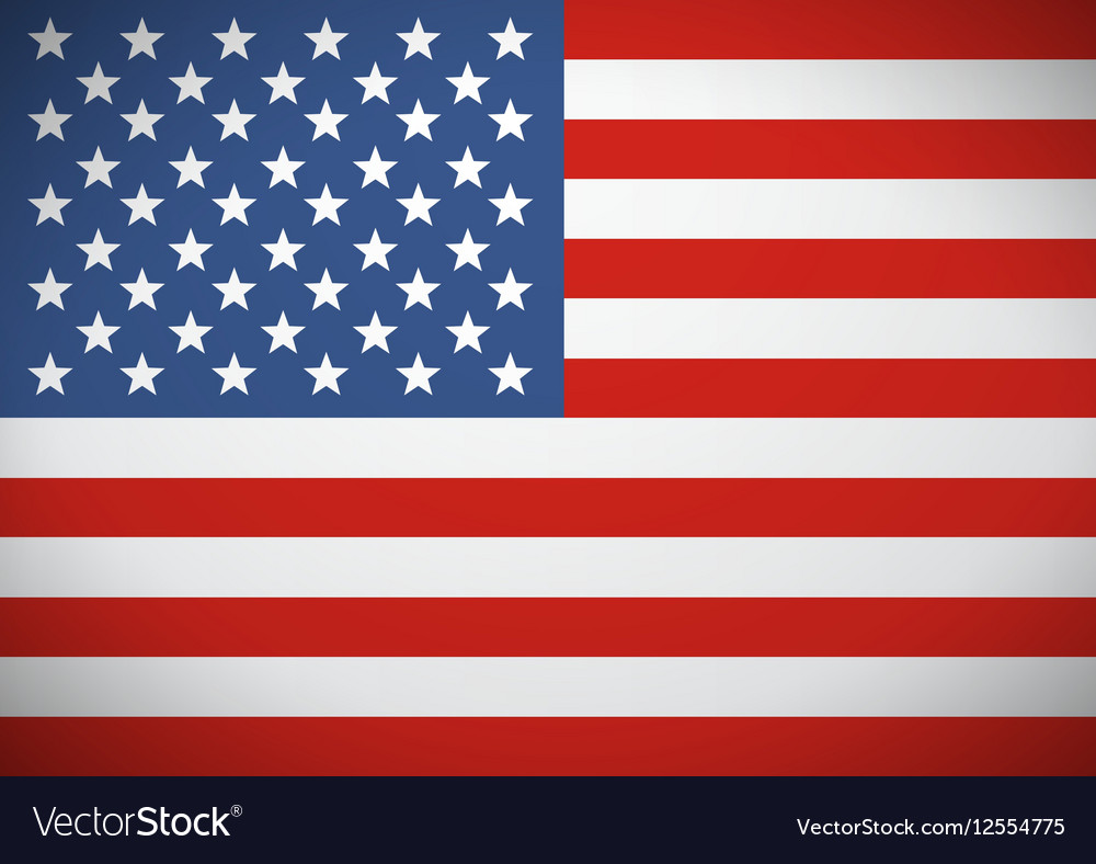 Flag of the United States America Independence vector image