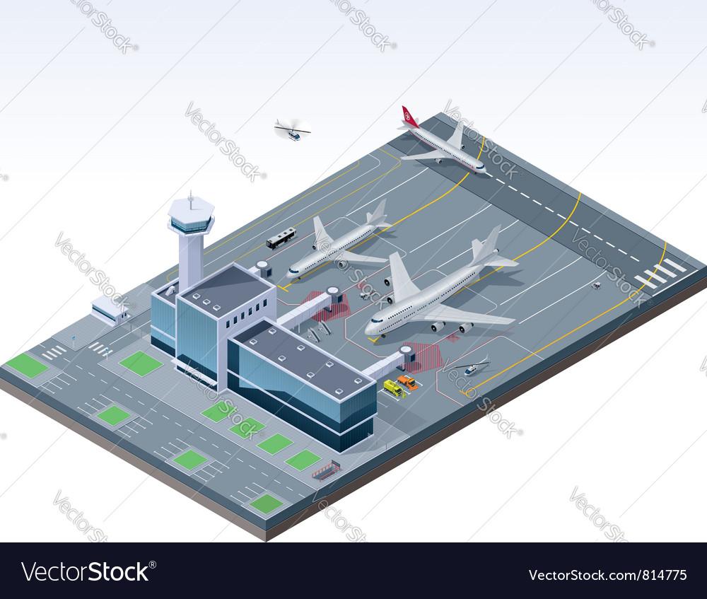 Isometric airport vector image