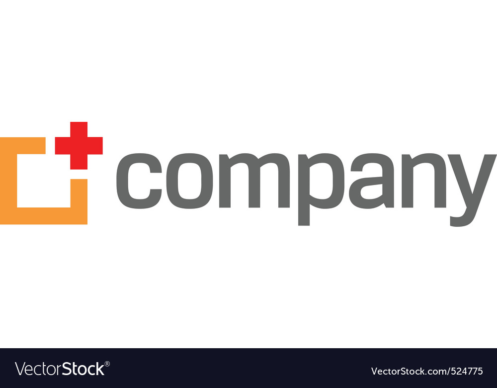 Medical red cross logo vector image