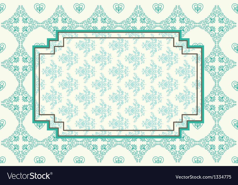 Ornate floral frame vector image