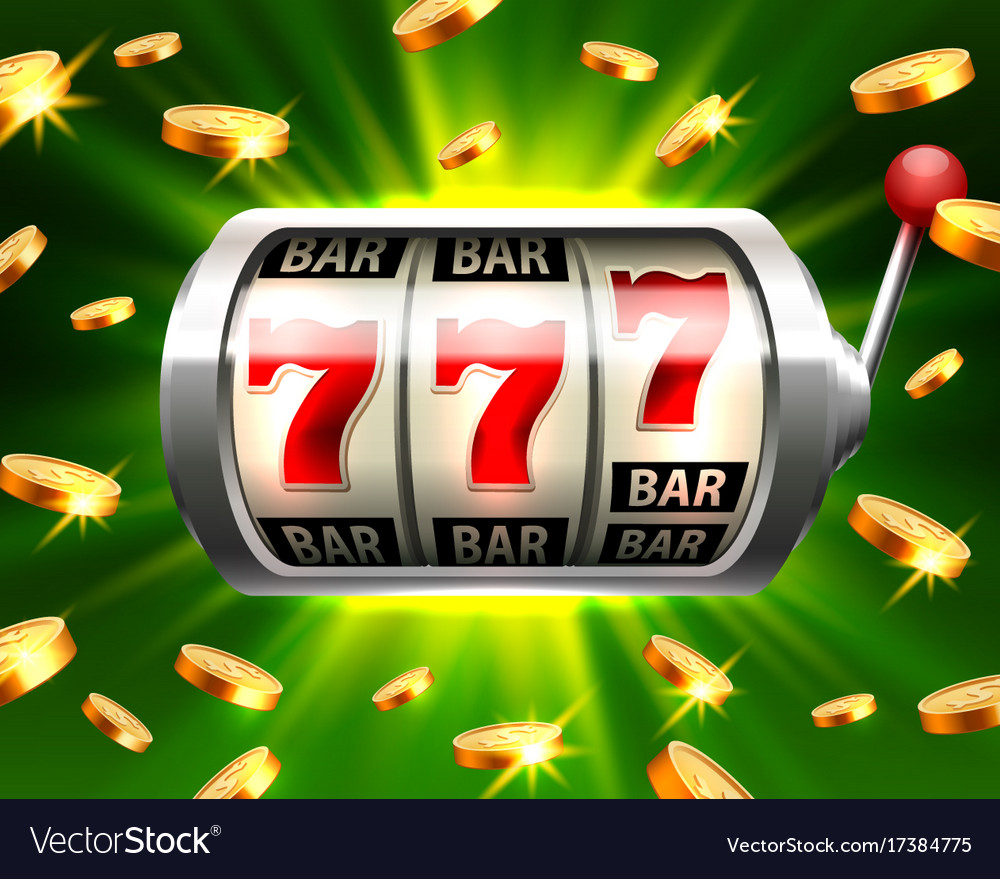 Silver slot machine wins the jackpot vector image