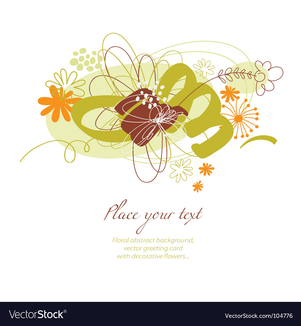 Floral composition vector image