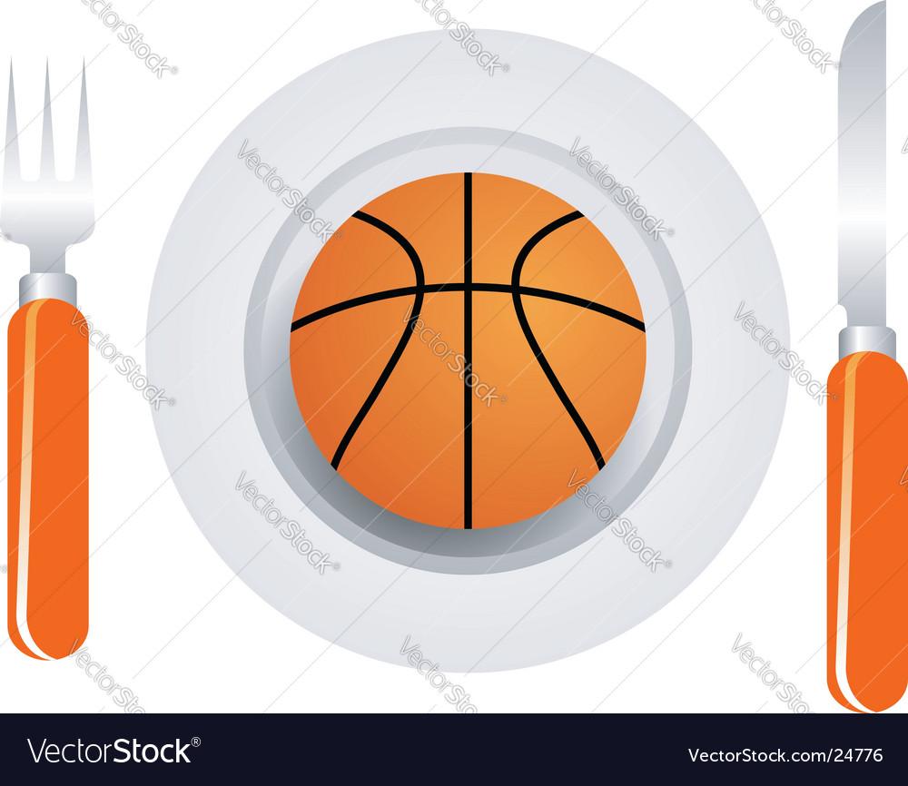 Basketball dish vector image