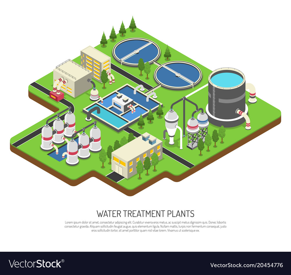 Water Treatment Plants Royalty Free Vector Image