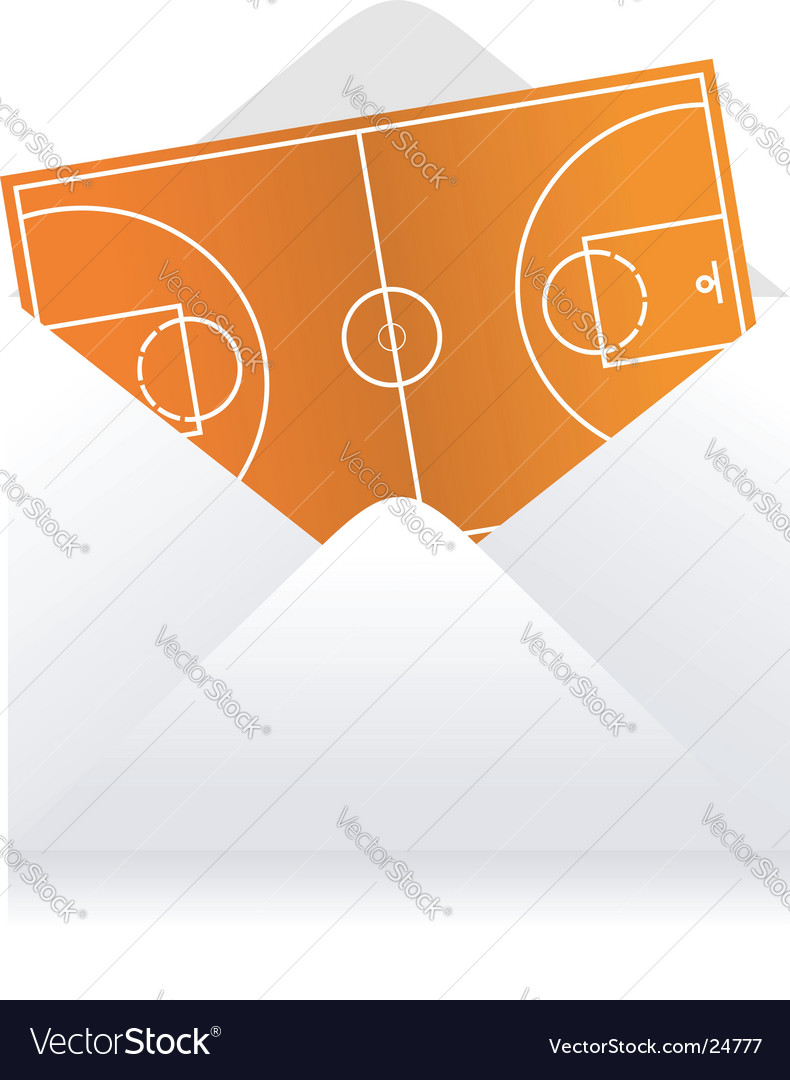 Basketball field delivery vector image