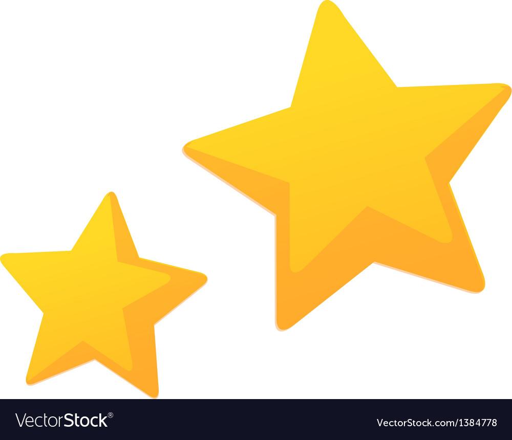 Icon star vector image