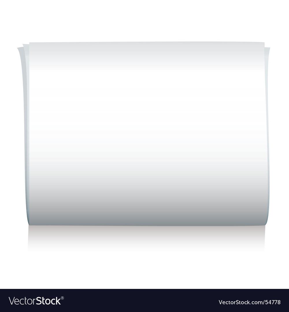 Newspaper blank vector image
