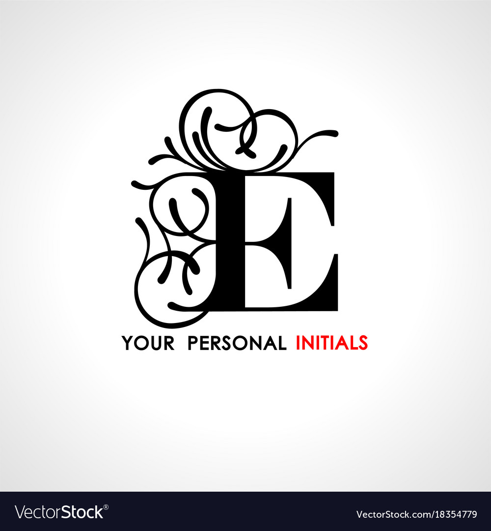 Capital letter e decorated with vegetable vector image