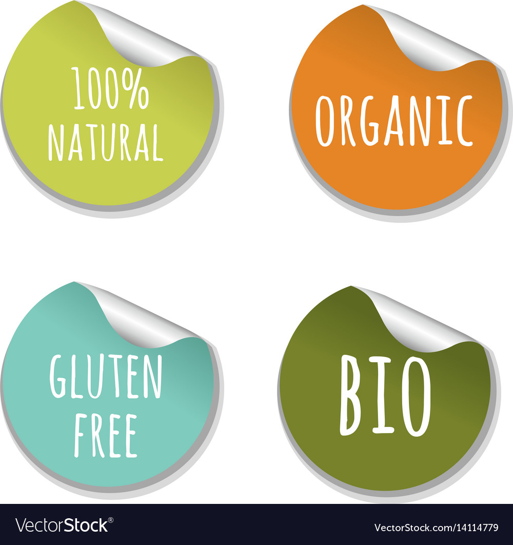 Natural labels vector image