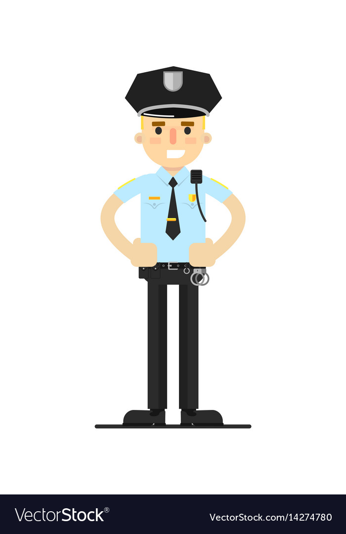 Police officer in uniform vector image