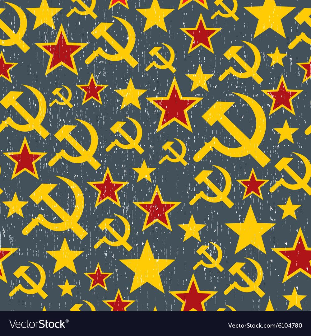 Soviet Union signs pattern vector image