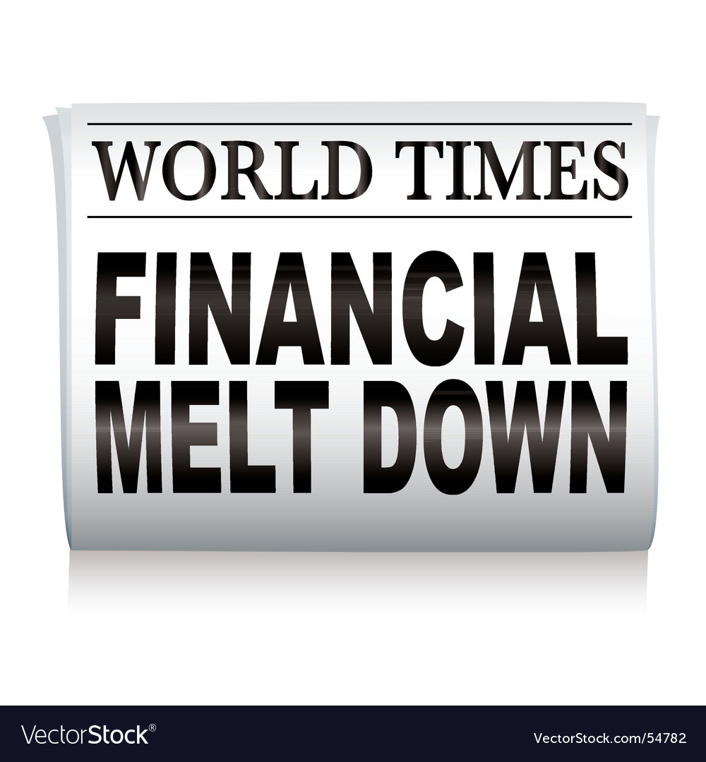 Newspaper financial vector image