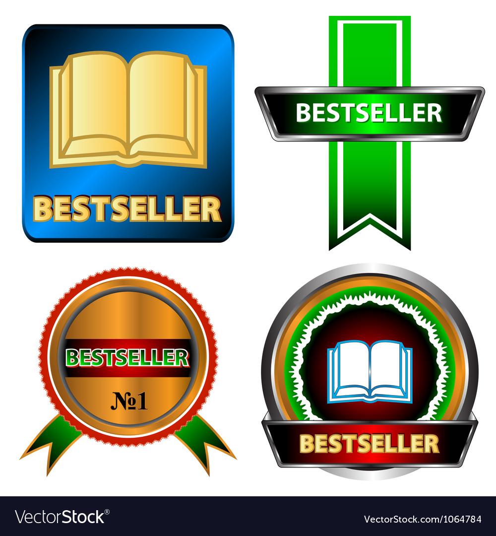 Bestseller logo set vector image