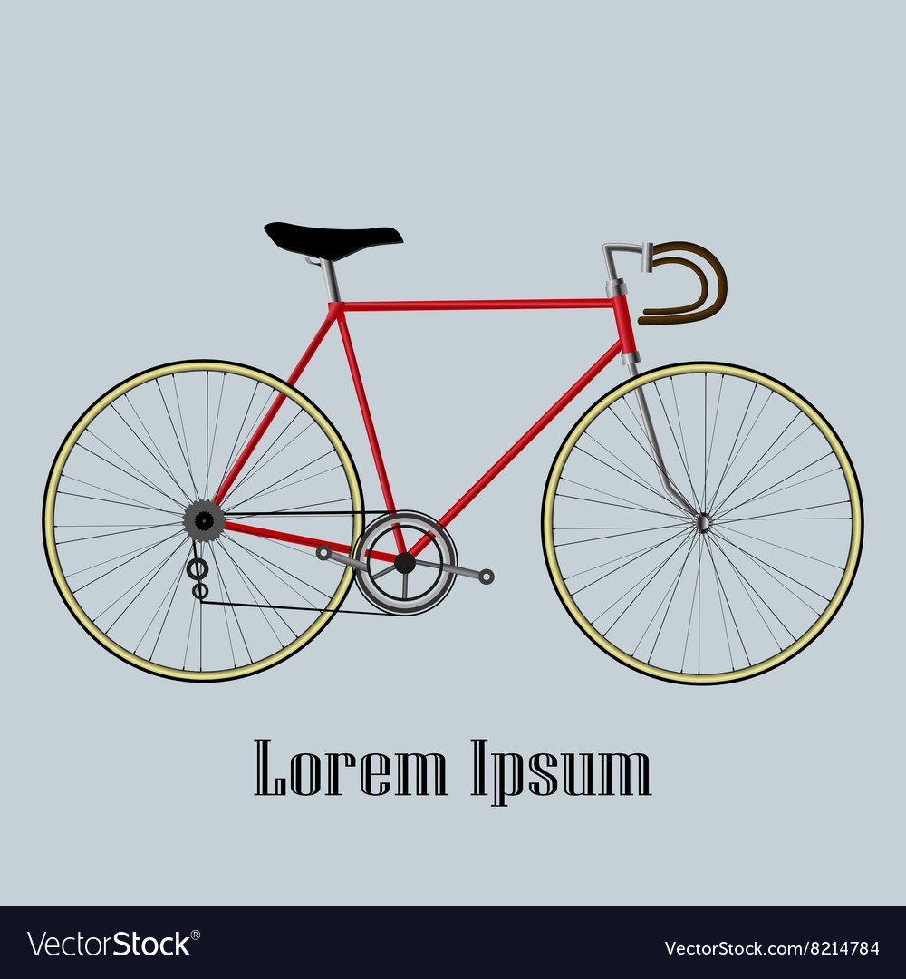 Bicycle isolated on blue background vector image