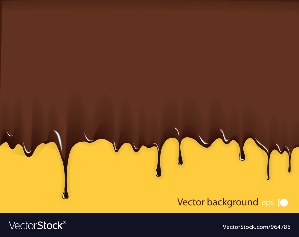 Chocolate background vector image