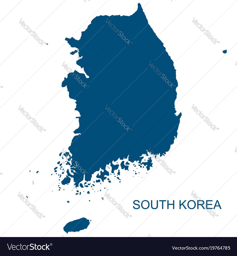 South korea contour vector image