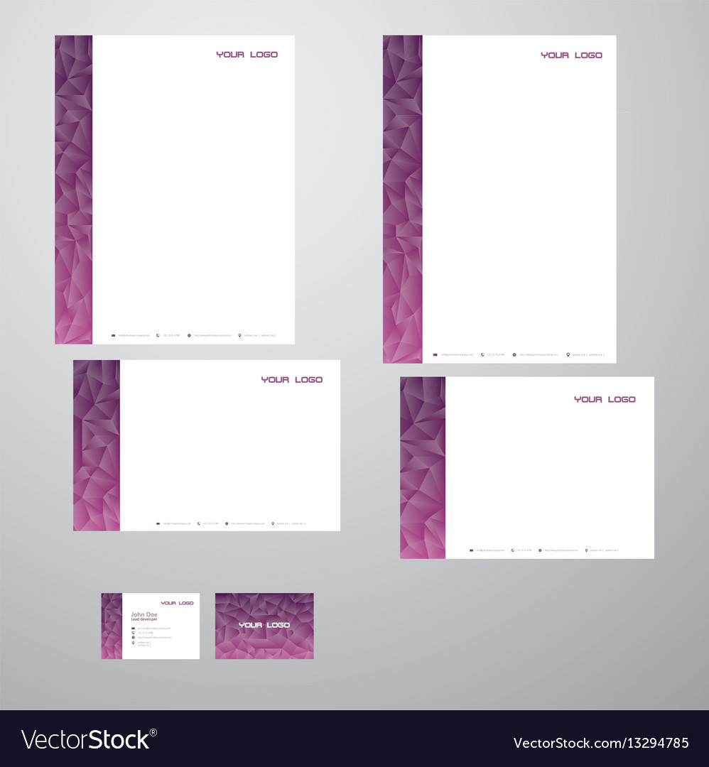 Stationary purple triangles vector image