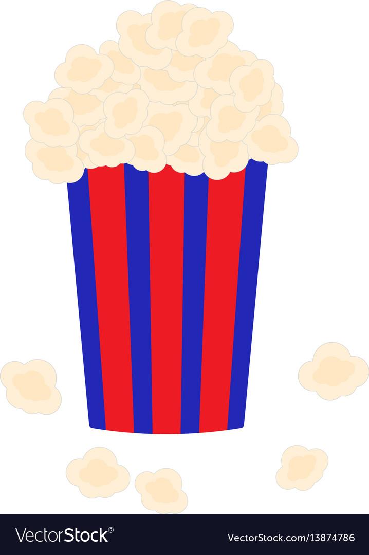 Bucket full of popcorn vector image