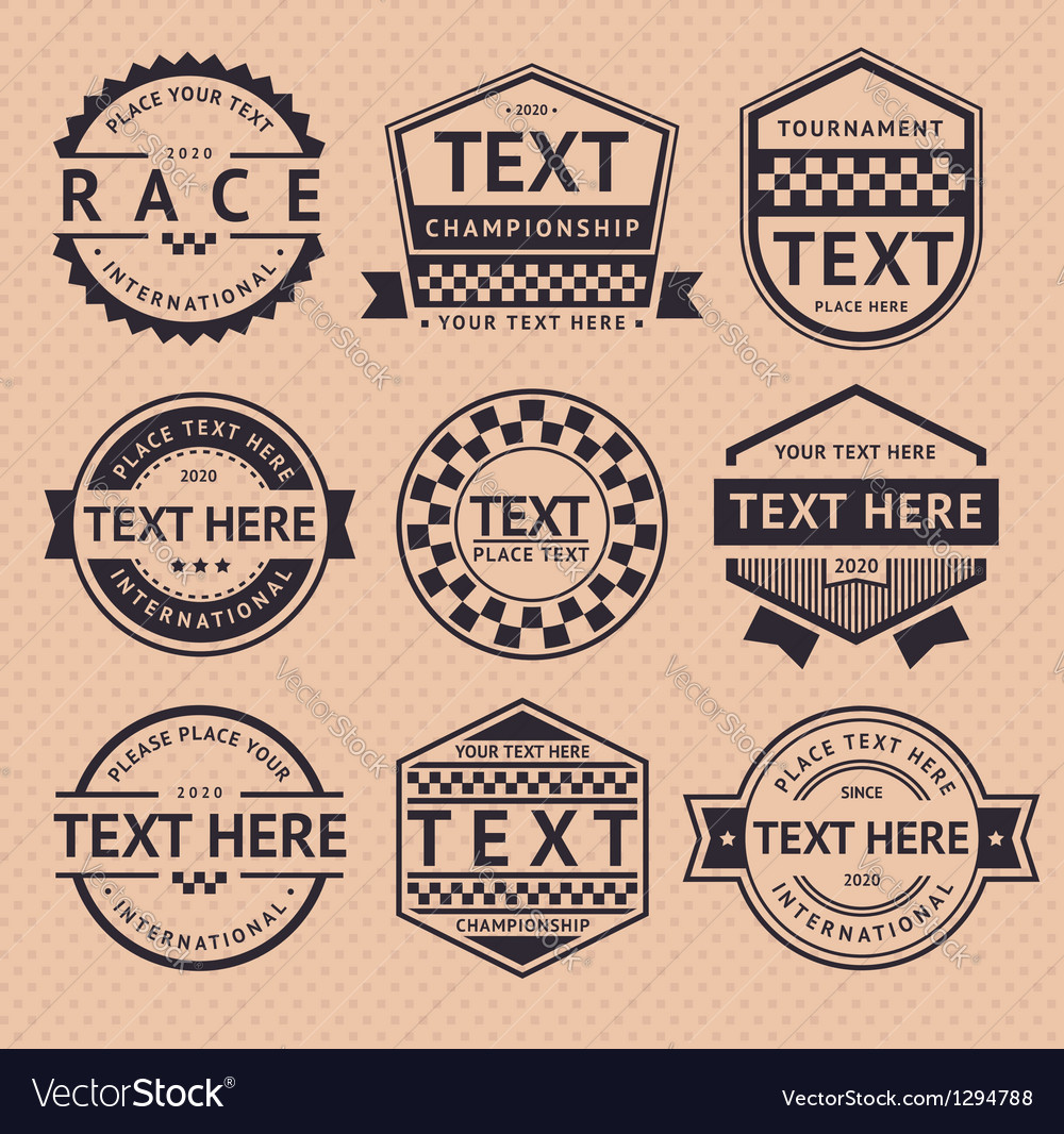 Racing insignia vintage style vector image