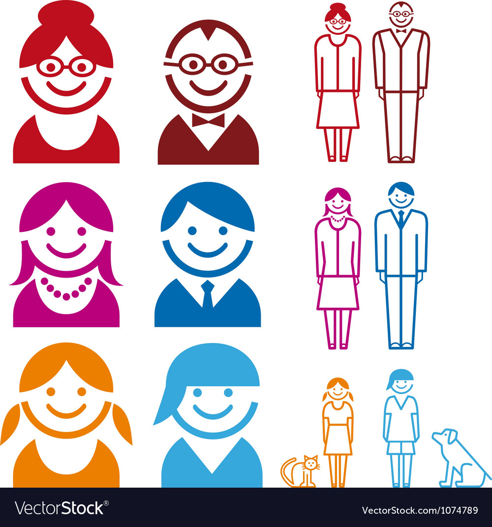 Family icon set vector image