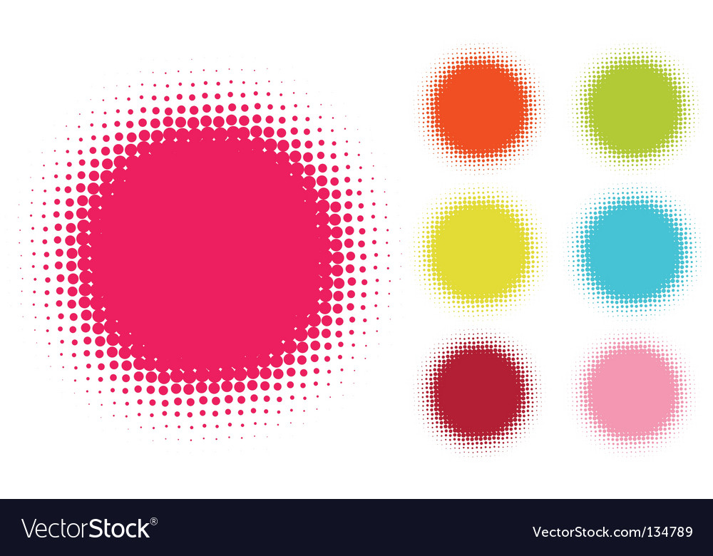 Halftone stains vector image