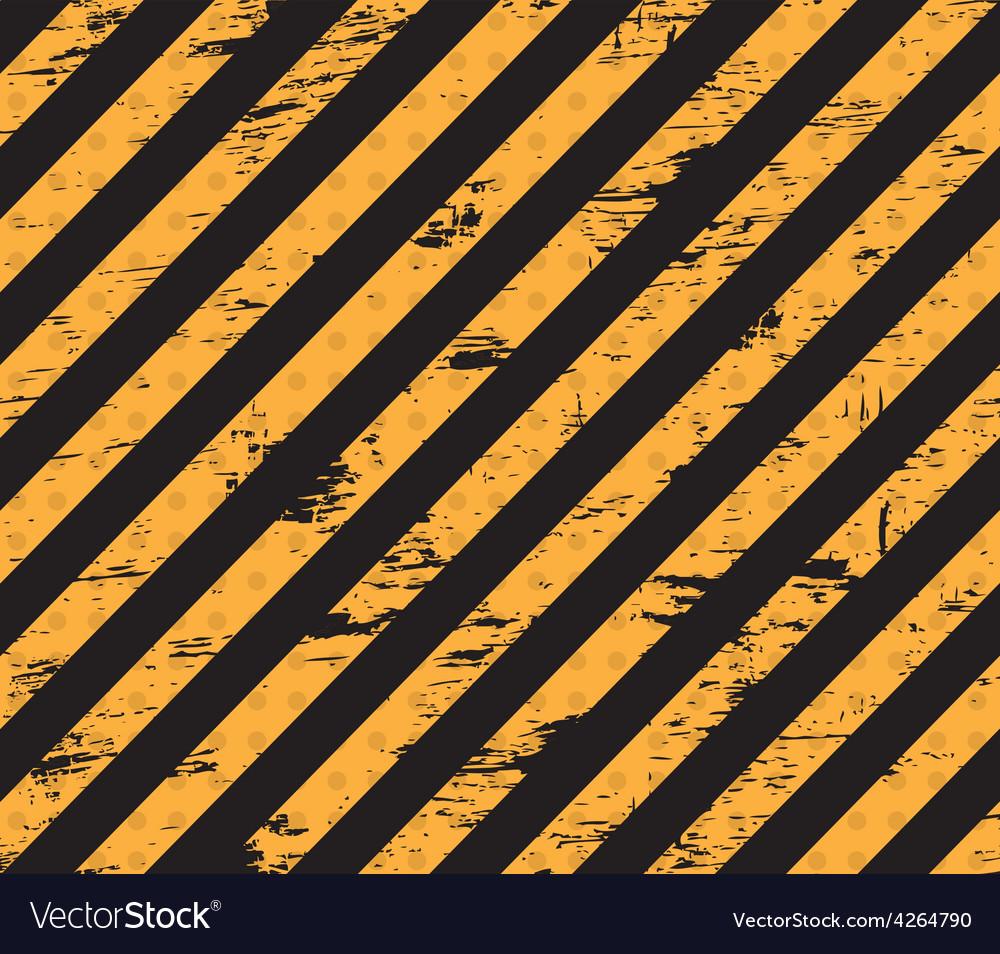Caution grunge line vector image