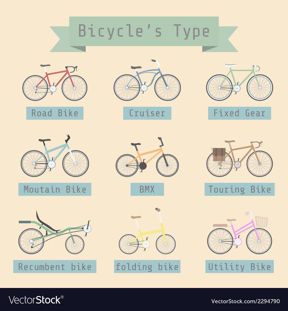 Typeofbike vector image