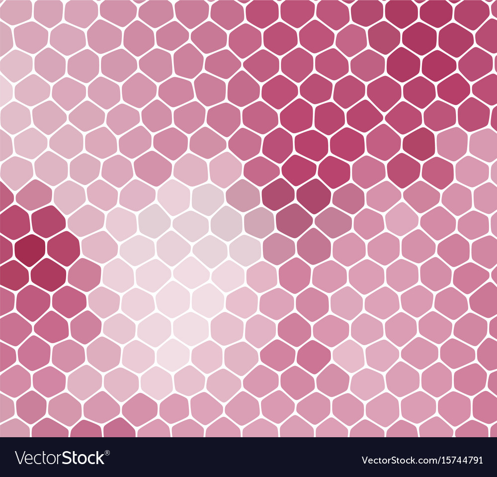 Abstract pink background with cells not seamless vector image