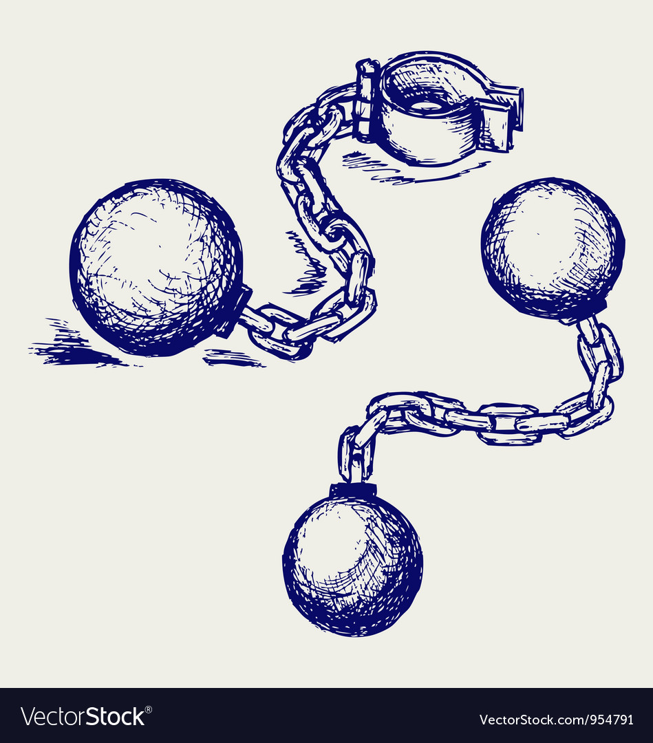 Wrecking ball and chain vector image
