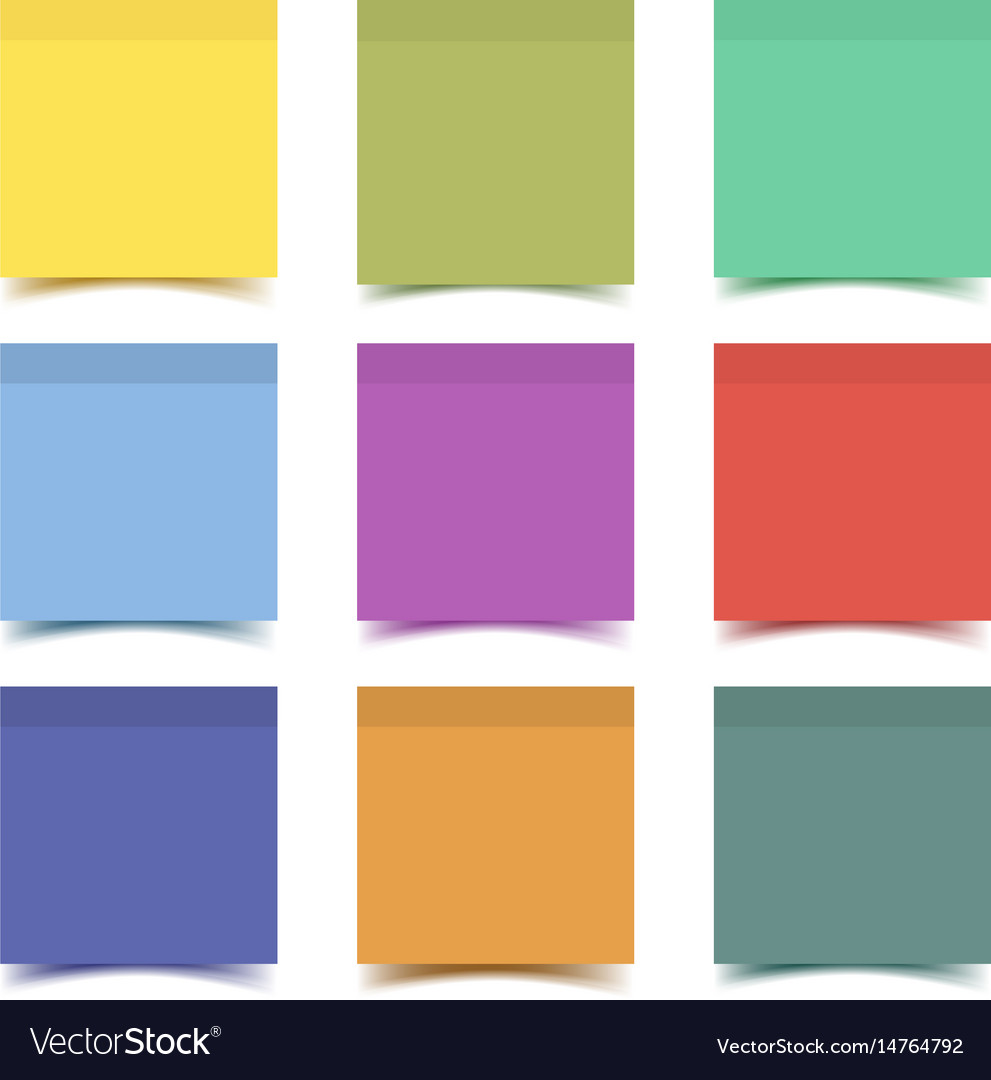 Big collection of sticky note paper pieces vector image