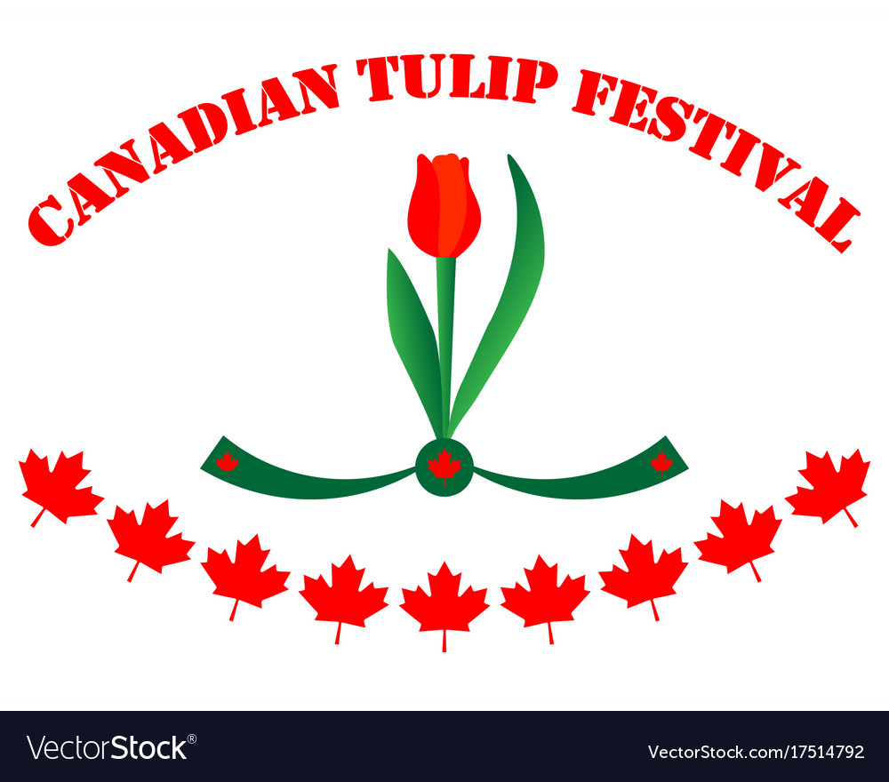 Canadian tulip festival royalty free vector image canadian tulip festival vector image biocorpaavc Choice Image