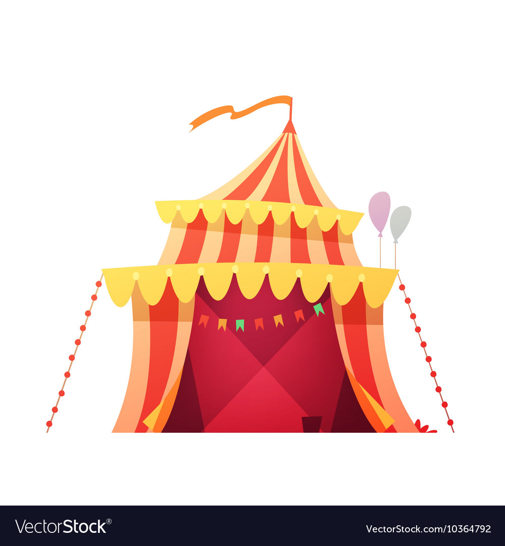 Traveling Circus Tent Retro Cartoon Icon vector image  sc 1 st  VectorStock & Traveling Circus Tent Retro Cartoon Icon Vector Image