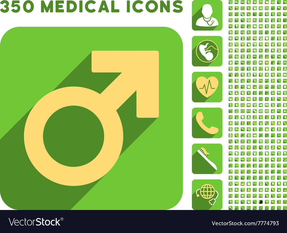 Male symbol icon and medical longshadow icon set vector image male symbol icon and medical longshadow icon set vector image buycottarizona Images